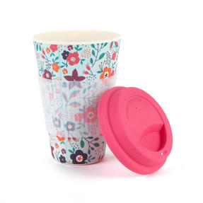 Cambridge COMBO-3187 Bamboo Poppy Flowers Eco Travel Mug, Set of 2 Thumbnail 3