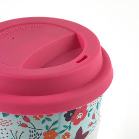 Cambridge COMBO-3187 Bamboo Poppy Flowers Eco Travel Mug, Set of 2 Thumbnail 7