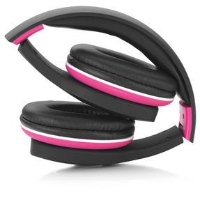 Intempo COMBO-3188 Folding Bluetooth Melody Headphones with Mirror 2000mAh Power Bank, Pink / Black Thumbnail 2