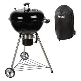 Berndes COMBO-3192 Portable Charcoal Barbeque Grill with Waterproof BBQ Grill Cover