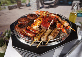 Berndes COMBO-3194 Portable Fan Assisted Smokeless Grill with Pizza Stone and BBQ Charcoal Starter Thumbnail 5