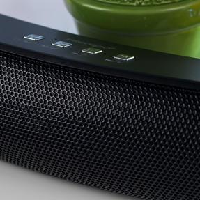 Intempo EE1736BLKSTKEU Curved Bluetooth Metallic Speaker, Black Thumbnail 4