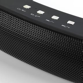 Intempo EE1736BLKSTKEU Curved Bluetooth Metallic Speaker, Black Thumbnail 6