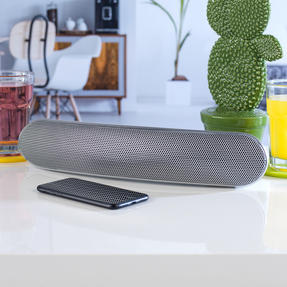 Intempo EE1736MGSTK Curved Bluetooth Metallic Speaker for iPhone, iPad, Samsung Galaxy, Android and other Smart USB Devices, 36 cm, Silver Thumbnail 2