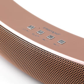 Intempo EE1736RGSTK Curved Bluetooth Metallic Speaker for iPhone, iPad, Samsung Galaxy, Android and other Smart USB Devices, 10 W, Rose Gold Thumbnail 6
