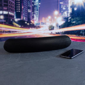 Intempo EE1736EBLKSTKEU Curved Bluetooth Metallic Speaker, Black Thumbnail 5