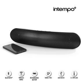 Intempo EE1736EBLKSTKEU Curved Bluetooth Metallic Speaker, Black Thumbnail 8