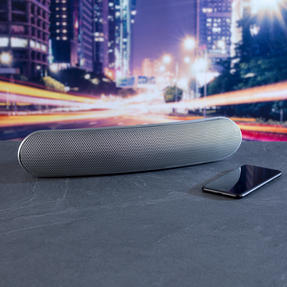 Intempo EE1736EMGSTKEU Curved Bluetooth Metallic Speaker, Silver Thumbnail 5