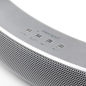 Intempo EE1736EMGSTKEU Curved Bluetooth Metallic Speaker, Silver Thumbnail 6