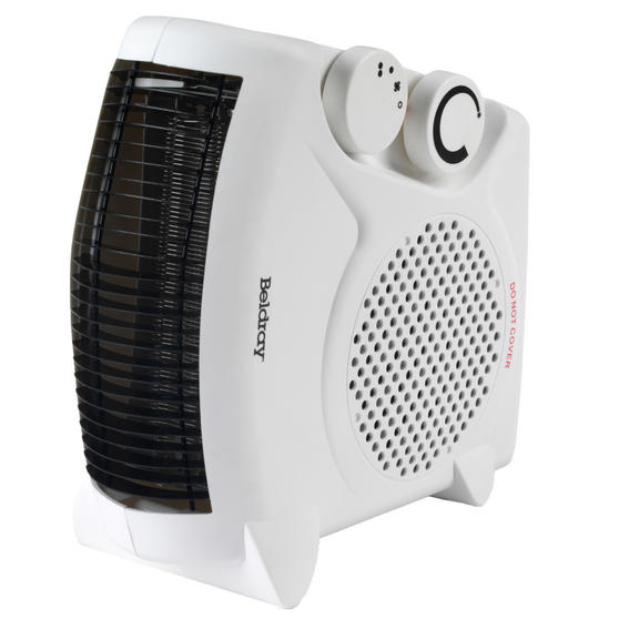 Beldray EH0569SSTK Flat Fan Heater, 1000/2000 W Settings, White