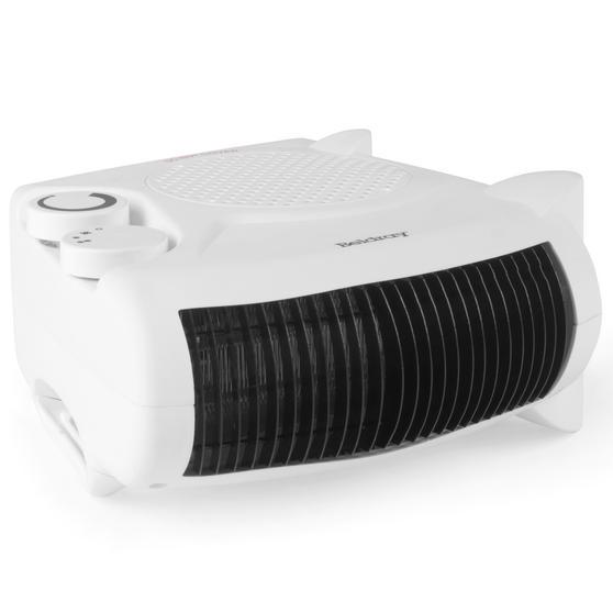 Beldray Flat Fan Heater, 1000/2000 W Settings, White Main Image 3