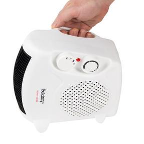 Beldray EH0569SSTK Flat Fan Heater, 1000/2000 W Settings, White Thumbnail 7