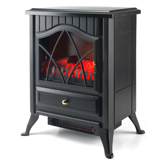 Beldray EH0792SSTK Electric Stove with LED Flame Effect, 1800 W