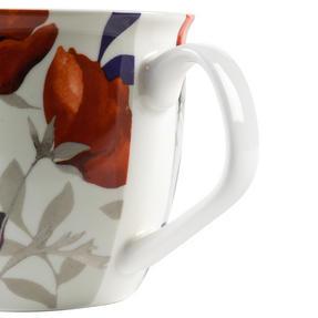 Cambridge CM057161 Oxford Red Poppy Fine China Mug, Set of Eight Thumbnail 4