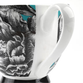 Portobello KB246752 Sandringham Zen Garden Turquoise Bone China Mug, Set of Eight Thumbnail 4
