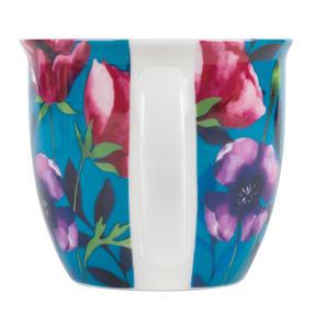 Cambridge CM057171 Oxford Teal Poppy Fine China Mug, Set of Eight Thumbnail 2