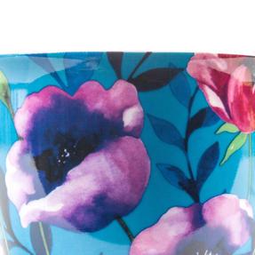 Cambridge CM057171 Oxford Teal Poppy Fine China Mug, Set of Eight Thumbnail 3