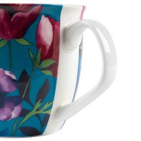 Cambridge CM057171 Oxford Teal Poppy Fine China Mug, Set of Eight Thumbnail 4