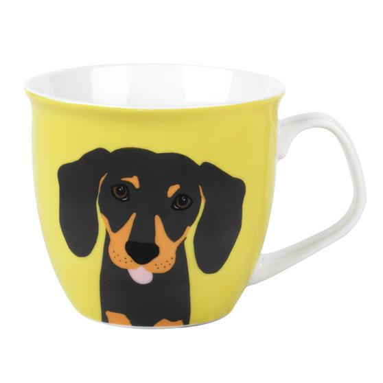 Cambridge CM057081 Oxford Puppy Pal Daschund Fine China Mug, Set of Eight
