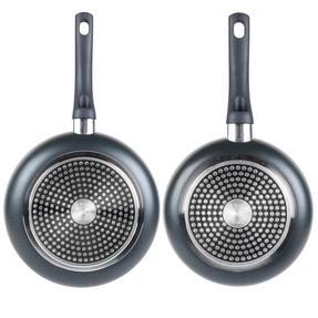 Russell Hobbs COMBO-2101 Set of 2 Ceramic Non Stick Frying Pan Set, 20 / 24 CM, Grey Thumbnail 4