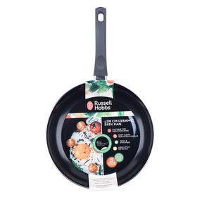Russell Hobbs COMBO-2102 Ceramic Non Stick Frying Pan and Wok Set, 28 CM, Grey Thumbnail 7