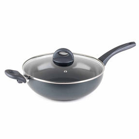 Russell Hobbs COMBO-2102 Ceramic Non Stick Frying Pan and Wok Set, 28 CM, Grey Thumbnail 4