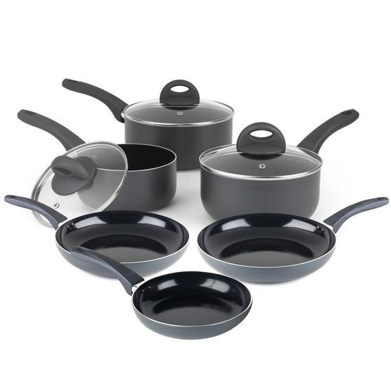 Russell Hobbs COMBO-2103 Ceramic Non Stick Saucepan and Frying Pan Set, 6 Piece
