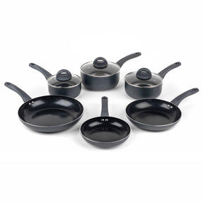 Russell Hobbs COMBO-2103 Ceramic Non Stick Saucepan and Frying Pan Set, 6 Piece Thumbnail 1
