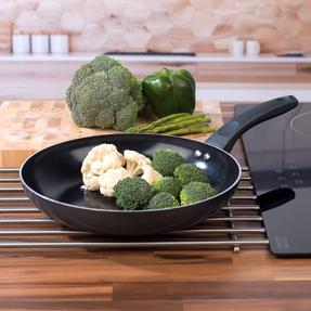 Russell Hobbs COMBO-2104 Ceramic Non Stick 28 CM Sauté and Frying Pan Set, 2 Piece, Grey Thumbnail 5