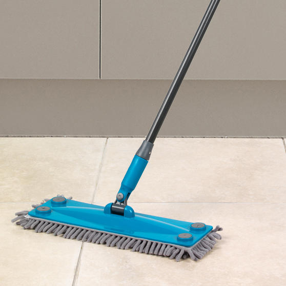 Beldray Click and Connect Set with Microfibre / Chenille Mops and Turquoise 14L Bucket Thumbnail 3