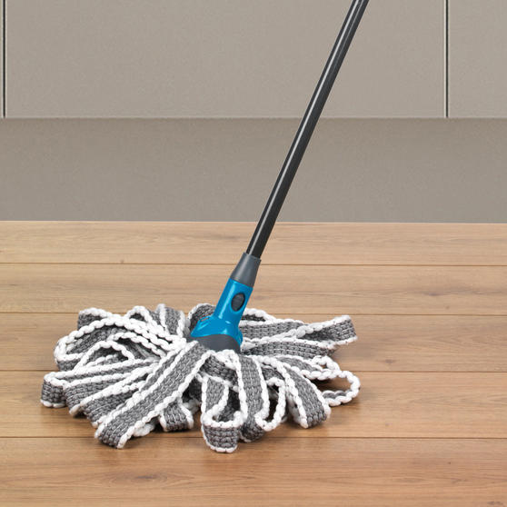 Beldray Click and Connect Set with Microfibre / Chenille Mops and Turquoise 14L Bucket Thumbnail 4