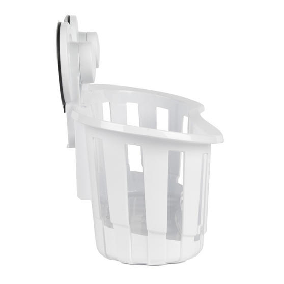 Beldray Set of 2 Plastic Suction Bathroom Shower Baskets, White Thumbnail 7