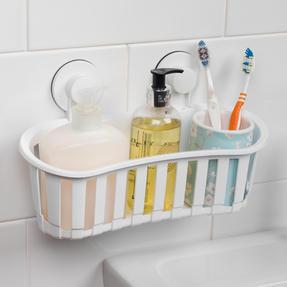 Beldray COMBO-2283 Set of 2 Plastic Suction Bathroom Shower Baskets, White Thumbnail 4