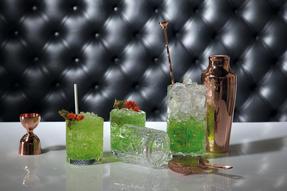 RCR COMBO-2224 Tattoo Crystal Cocktail Mixing Glass and Short Tumbler Glass Set, 7 Piece Thumbnail 3