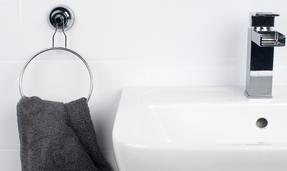 Beldray COMBO-1682 Bathroom Suction Shower Basket, Towel Ring and Towel Bar Thumbnail 5