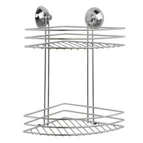 Beldray COMBO-1723 1-Tier & 2-Tier Corner Suction Shower Baskets, Chrome Thumbnail 2