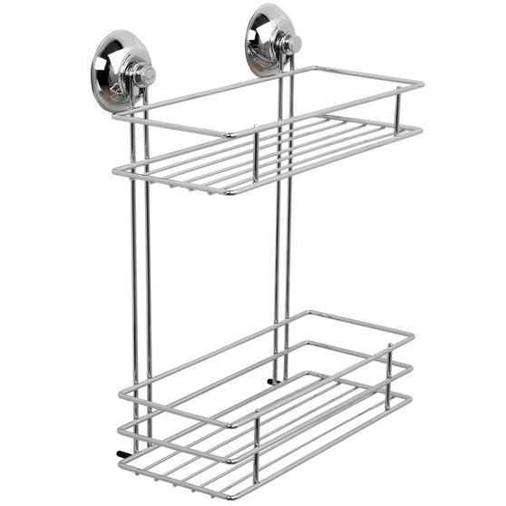 Beldray 1-Tier & 2-Tier Suction Shower Baskets, Chrome Thumbnail 3
