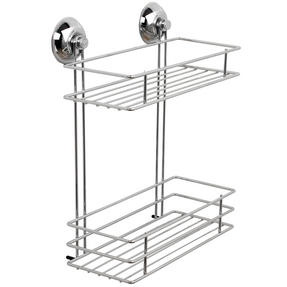 Beldray COMBO-1724 1-Tier & 2-Tier Suction Shower Baskets, Chrome Thumbnail 3