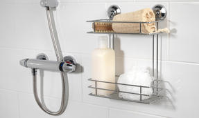 Beldray COMBO-1724 1-Tier & 2-Tier Suction Shower Baskets, Chrome Thumbnail 5