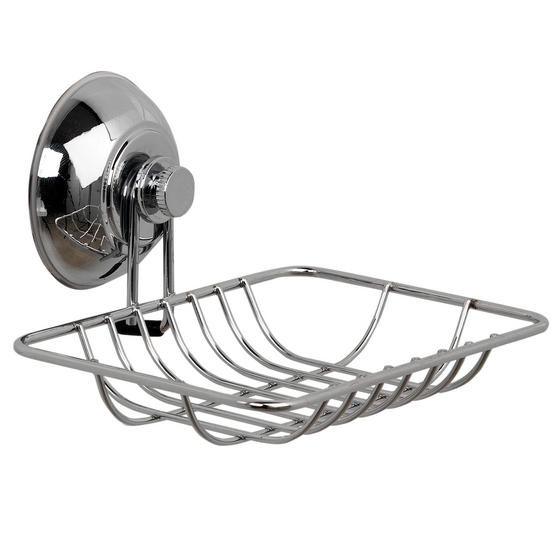 Beldray Suction Soap Dish & Towel Ring, Chrome Thumbnail 3