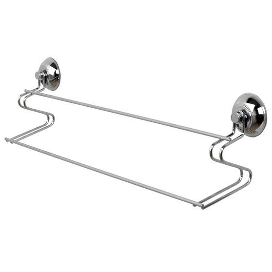 Beldray Suction Soap Dish & Towel Bar, Chrome Thumbnail 2