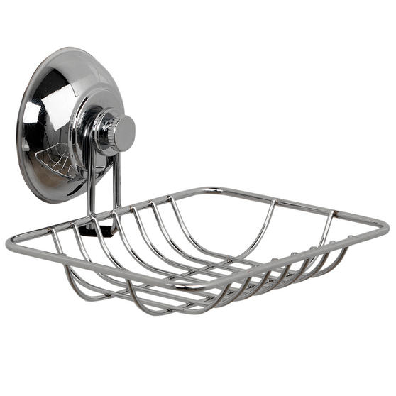 Beldray Suction Soap Dish & Towel Bar, Chrome Thumbnail 3