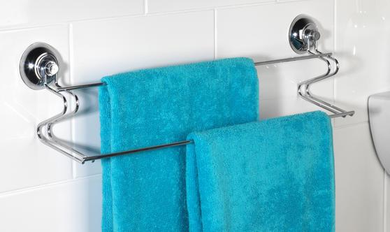 Beldray Suction Soap Dish & Towel Bar, Chrome Thumbnail 4