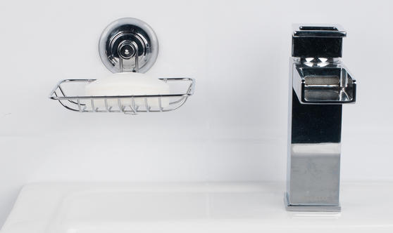 Beldray Suction Soap Dish & Towel Bar, Chrome Thumbnail 5