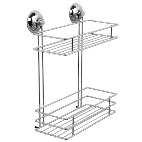 Beldray Suction Shower Baskets with Soap Dish, Chrome Thumbnail 2