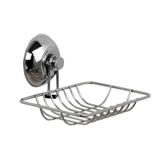 Beldray Suction Shower Baskets with Soap Dish, Chrome Thumbnail 3