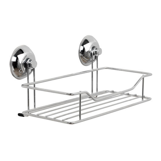 Beldray Suction Shower Baskets with Soap Dish, Chrome Thumbnail 4