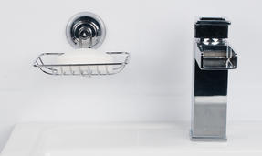 Beldray COMBO-3220 Bathroom Suction Towel Bar, Soap Dish, Shower Basket and Toilet Roll Holder Thumbnail 8