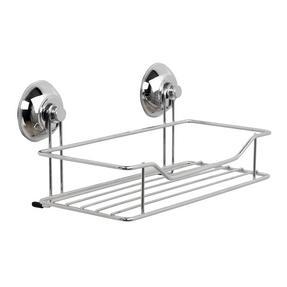 Beldray COMBO-3221 Set of 2 Bathroom Suction Shower Baskets, Chrome Thumbnail 2