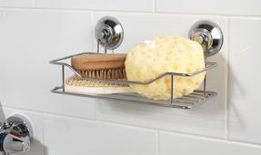 Beldray COMBO-3221 Set of 2 Bathroom Suction Shower Baskets, Chrome Thumbnail 3